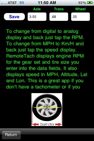 RemoteTach A Analog and Digital tachometer with speed & course by MSTApps