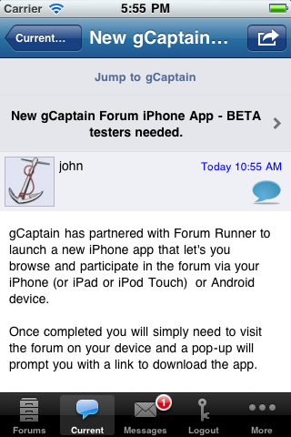 点击获取gCaptain Forum