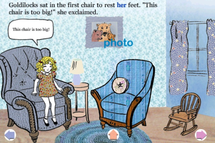 Goldilocks and the Three Bears - Children's Classic Stories by KwiqApps screenshot-3