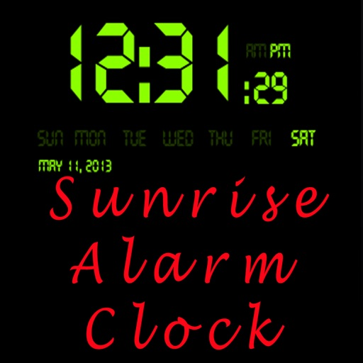 Sunrise Alarm Clock.Alarm based on when the sun happens to be rising and setting