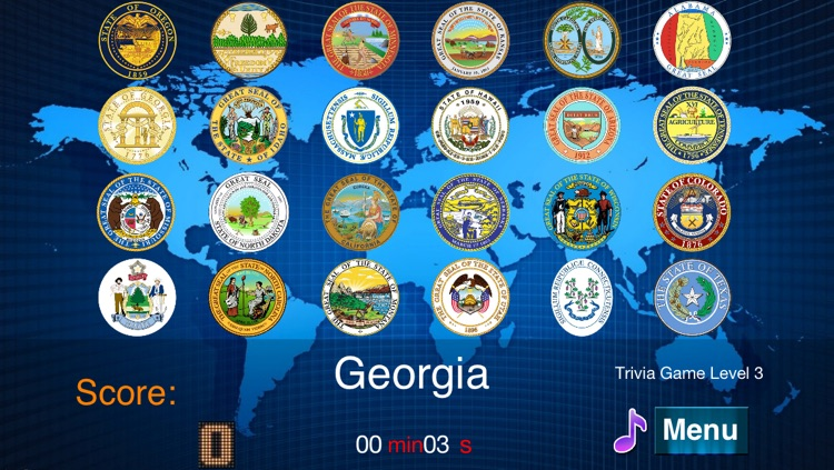 Master USA State Seals screenshot-4