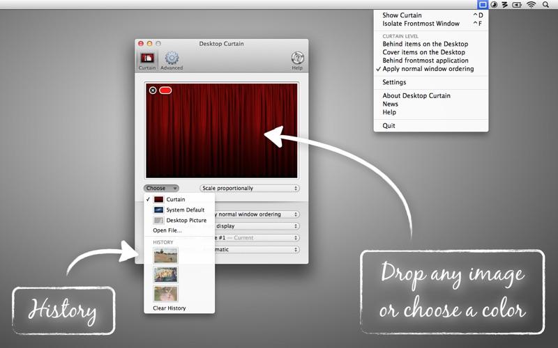 Desktop Curtain Screenshots