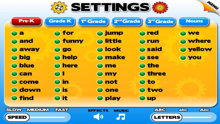 Sight Words Games & Flash Cards for Reading and Spelling Success at School (Learn to Read Preschool, Kindergarten and Grade 1 Kids) screenshot-3