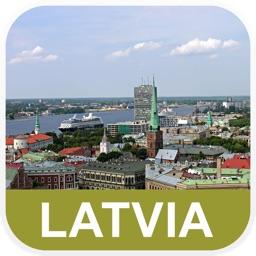 Latvia Offline Map - PLACE STARS