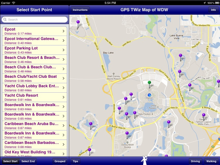 GPS Transportation Wizard HD for Walt Disney World