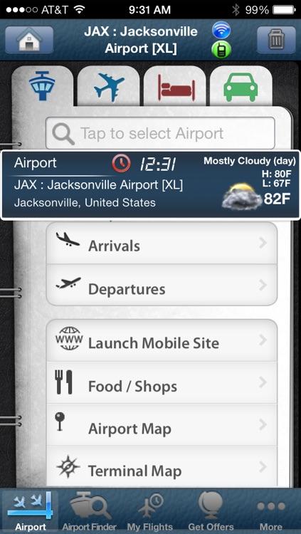 Jacksonville Airport + Flight Tracker