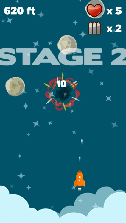 Astro Rocket Saga - Asteroids diving survival game screenshot-2