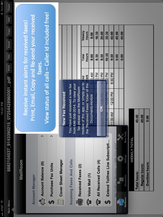 My Toll Free Number Lite - with VoiceMail and Fax - for iPad screenshot-3