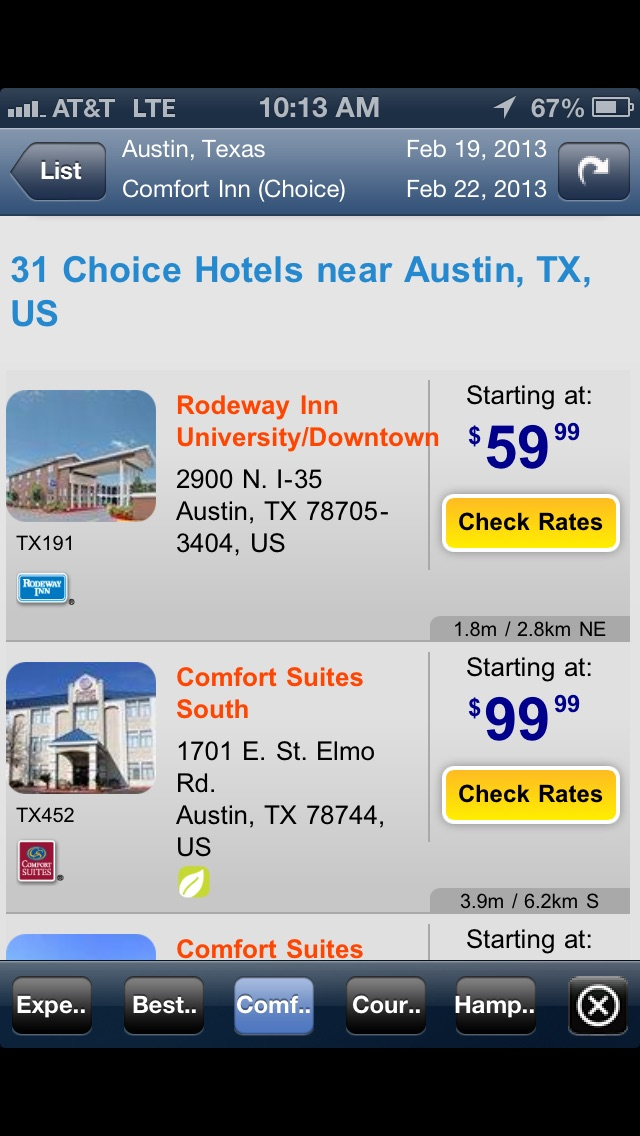 Screenshot 4 For Frugal Hotel And Motel Finder