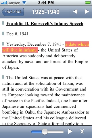 US Historical Documents & Speeches screenshot-3