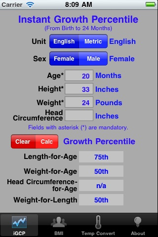 Growth Chart Percentile App Price Drops