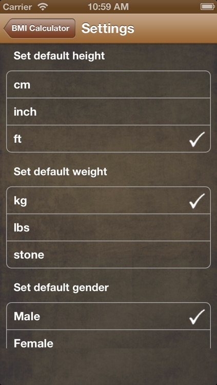 BMI Calc Free screenshot-4
