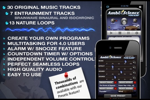 Pure Sleep Premium* | AmbiScience™ • Binaural & Isochronic Ambient Sleep Utility