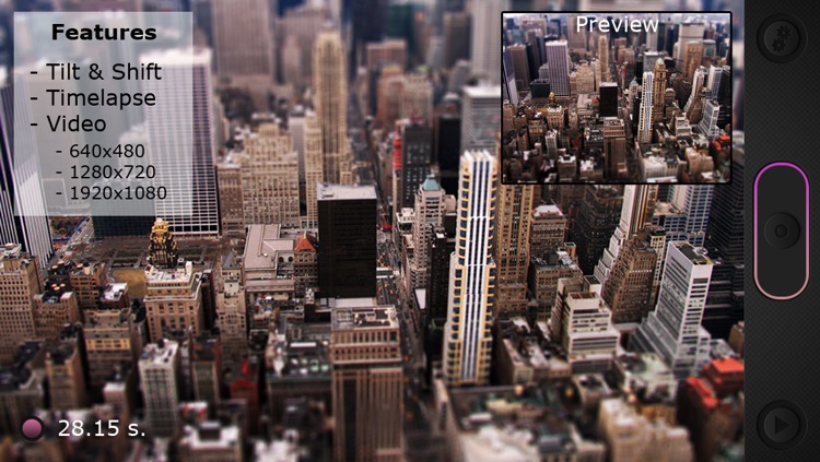 Miniatures: Tilt-Shift Time-Lapse Videos screenshot-0