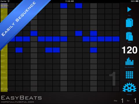 EasyBeats 2 Pro Drum Machine - Beat or Program Drums!-ipad-1