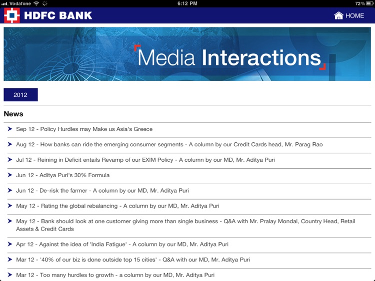 HDFC Bank Investor Relations screenshot-3