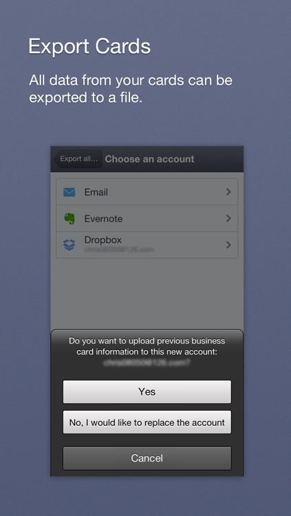 Yolu Card Reader - Business card reader & scanner screenshot-4