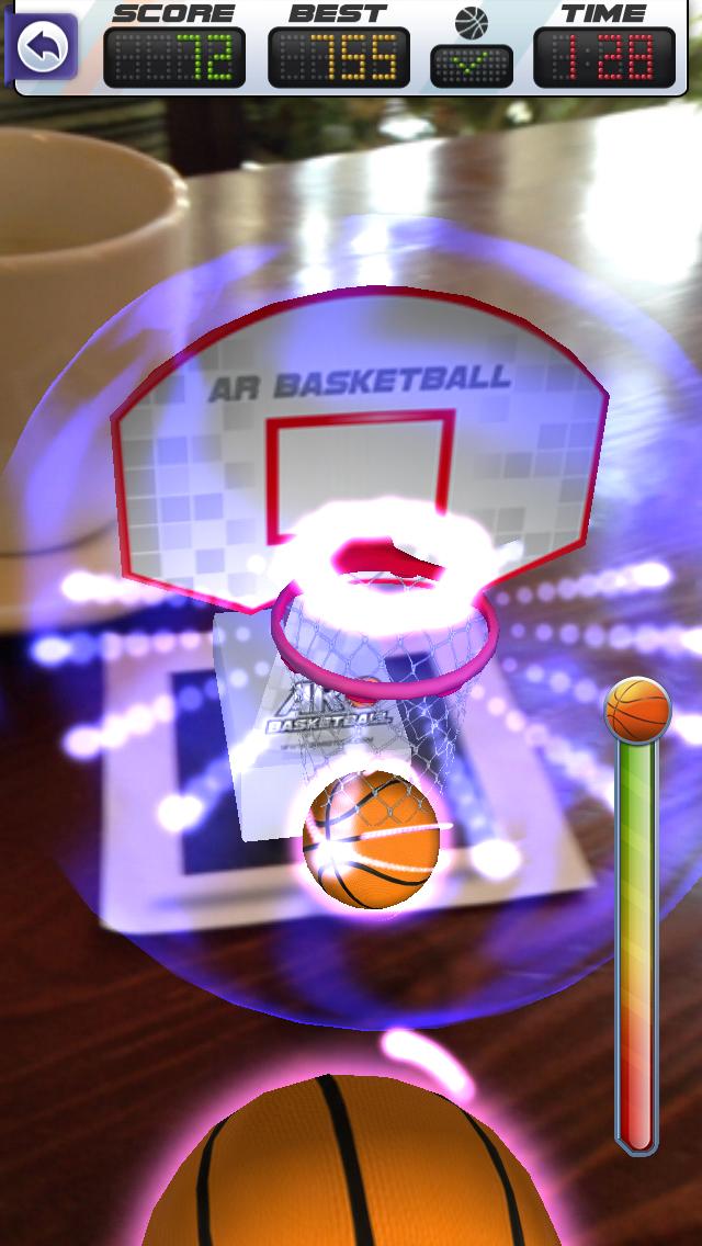 ARBasketball - Augmented Reality Basketball Game Screenshot 2