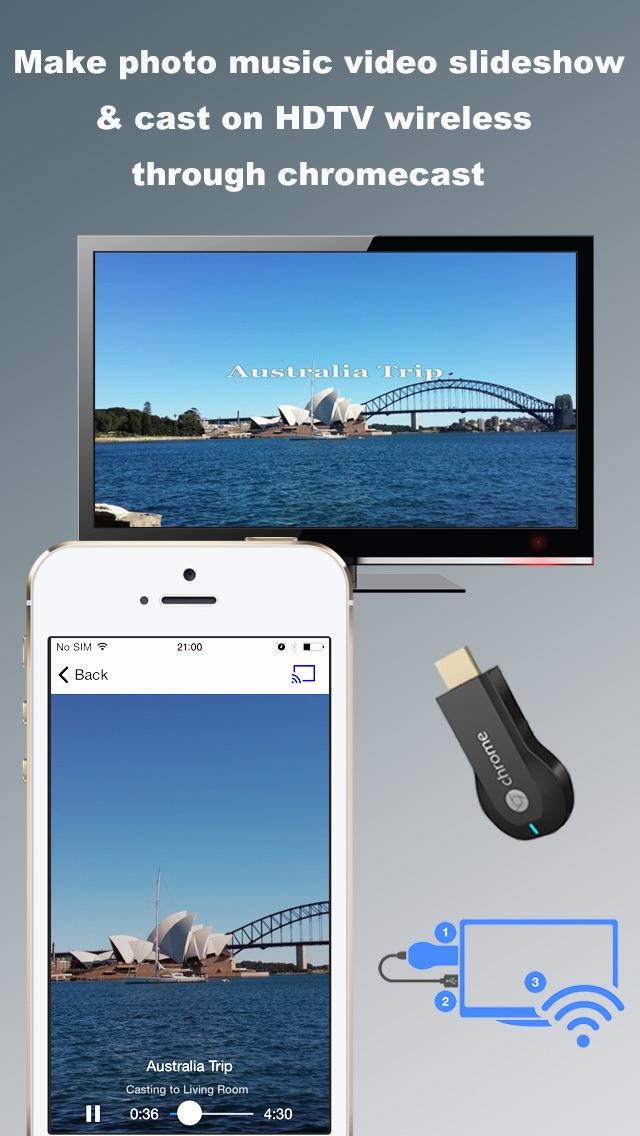 SlideshowCast Free Make Photo Video Music Slideshow & Cast