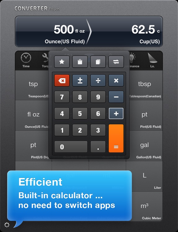 Converter Touch HD ~ Fastest Unit Converter