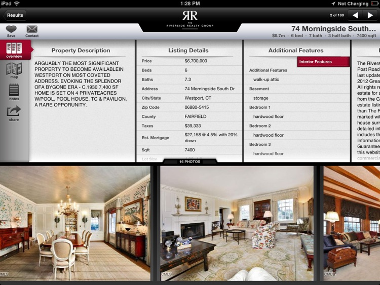 Fairfield CT Realty for iPad