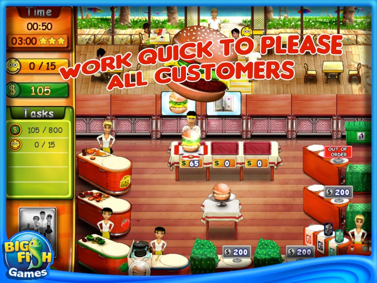 Burger Bustle HD screenshot-2
