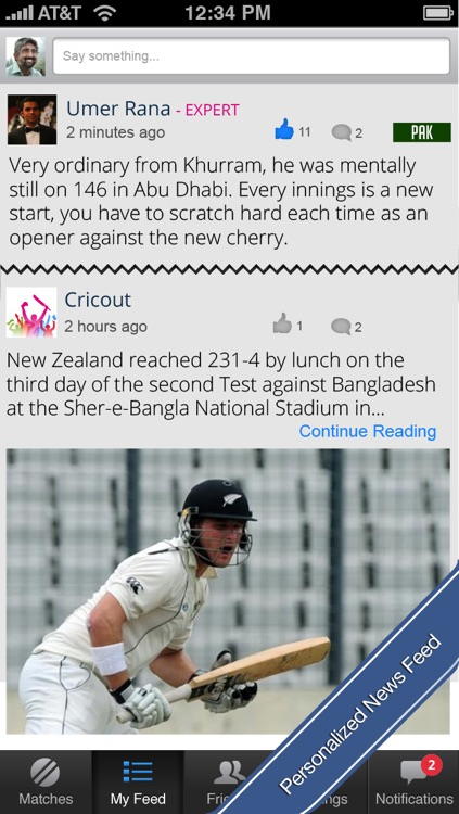 Cricout - Live cricket scores, commentary, experts and friends. The most fun way to follow cricket online! screenshot-3
