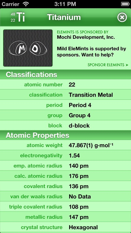 Mild EleMints: Free Periodic Table screenshot-3