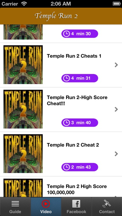 Cheats for Temple Run 2 & Complete Guide and Walkthrought