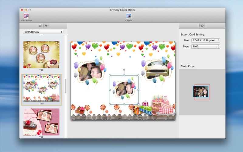 Screenshot 1 For Birthday Cards Maker