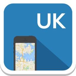 UK (England) offline map, guide, weather, hotels. Free navigation.