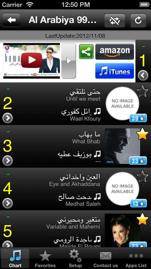 Arab Hits! (Free) - Get The Newest Arabic music chartsلقطة شاشة2