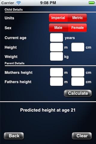 Adult height predictors