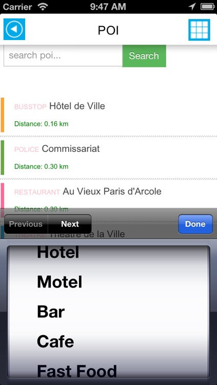 Paris offline map, guide & hotels