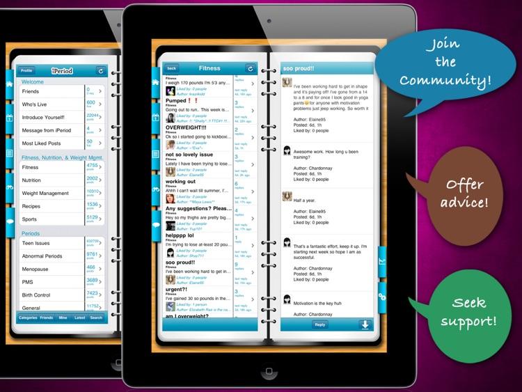 iPeriod Ultimate for iPad - Period Tracker / Menstrual Calendar screenshot-3