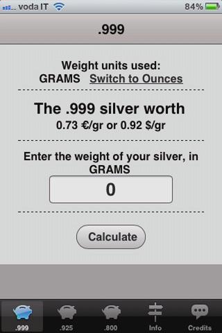 Screenshot 2 For Silver Price Calculator Live
