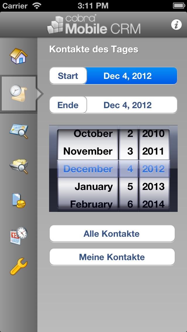 cobra Mobile CRM 2011Screenshot von 2