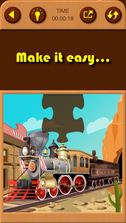 Train Games - Free Educational Jigsaw Puzzles for Kids and Preschool Toddler Learning Railway Vehicle Engine Transport and Love Locomotive Labs Power screenshot-3
