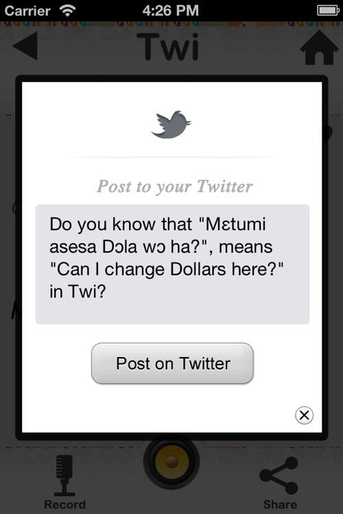 Twi for travellers to Ghana screenshot-4