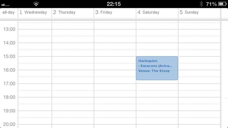 Fixtures for Aviva Premiership in your calendar