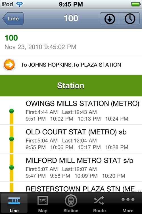 TransitGuru Maryland MTA screenshot-3