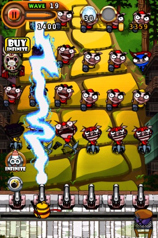 Ninja Chicken 2:shoot'em up screenshot-2