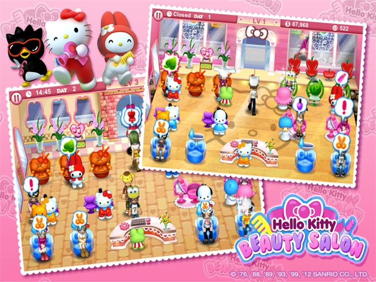 Hello Kitty Beauty Salon HD screenshot-2