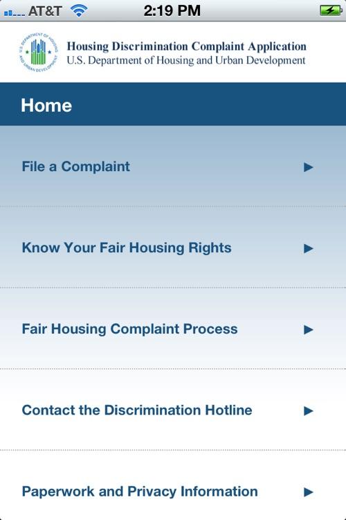 Housing Discrimination Complaint Application