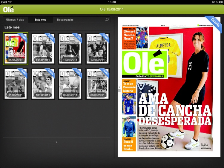 Olé para iPad screenshot-1
