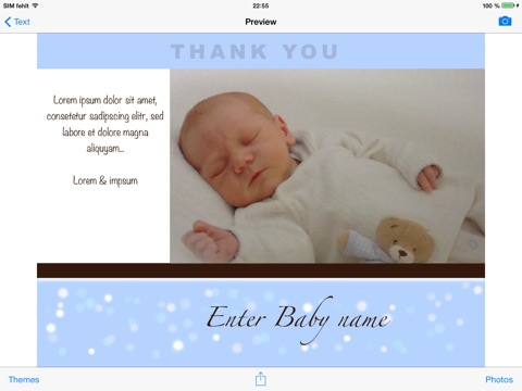 Baby Camera Selfie Free Birth Announcement And Thank You Cards