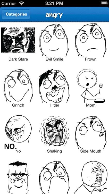 Emoji: Rage Faces