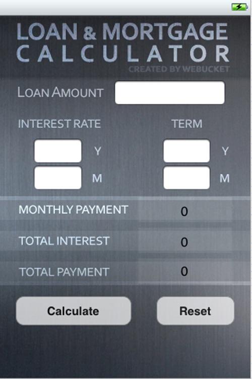 Loan & Mortgage Calculator