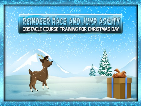 screenshot 1 for reindeer race and jump agility obstacle course training for christmas day