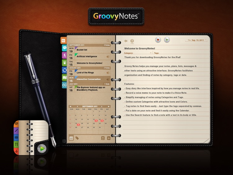 Groovy Notes - Organizer Diary